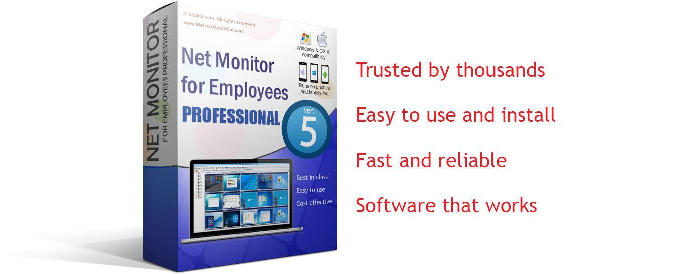 This tool helps you to increase employee productivity by monitoring screens, support, recording employee activity...