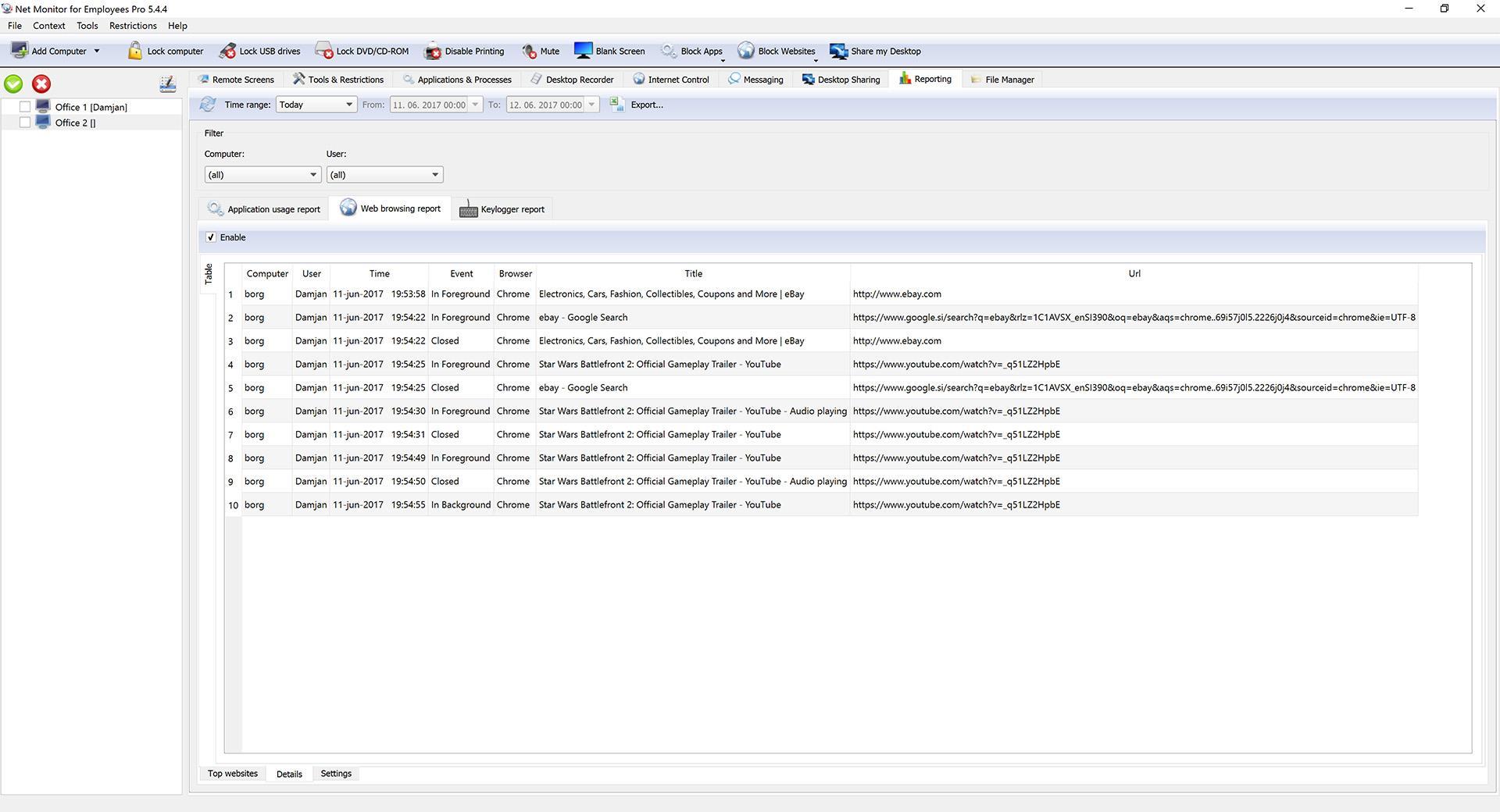 Monitoring Software | Keystroke Logger | Internet Blocking